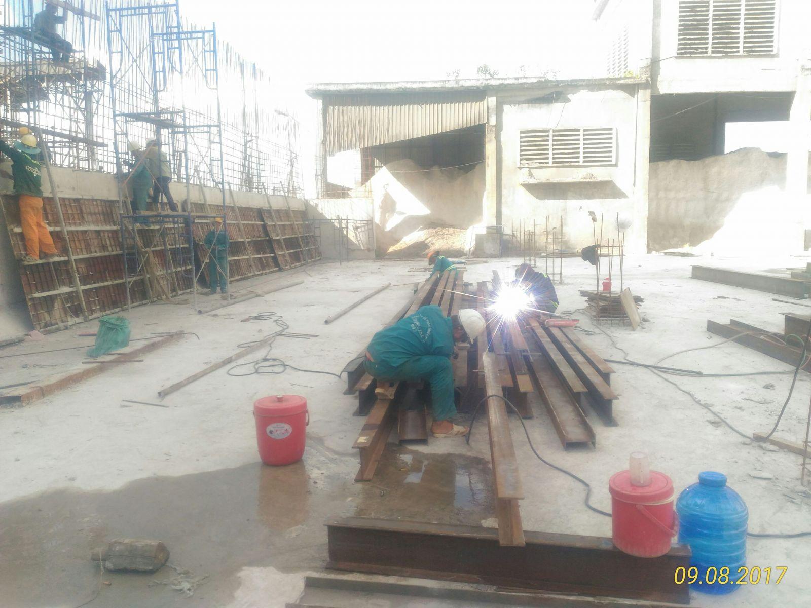Xây dựng nhà xưởng - cty Xi măng Tây Đô