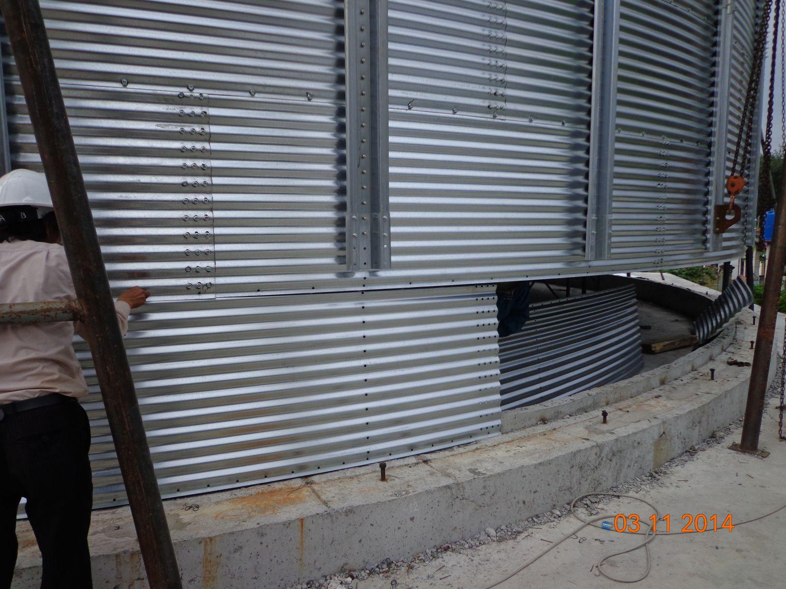 Lắp đặt silo chứa lúa, ngô - Nhà máy bột mì cty Inter Flour