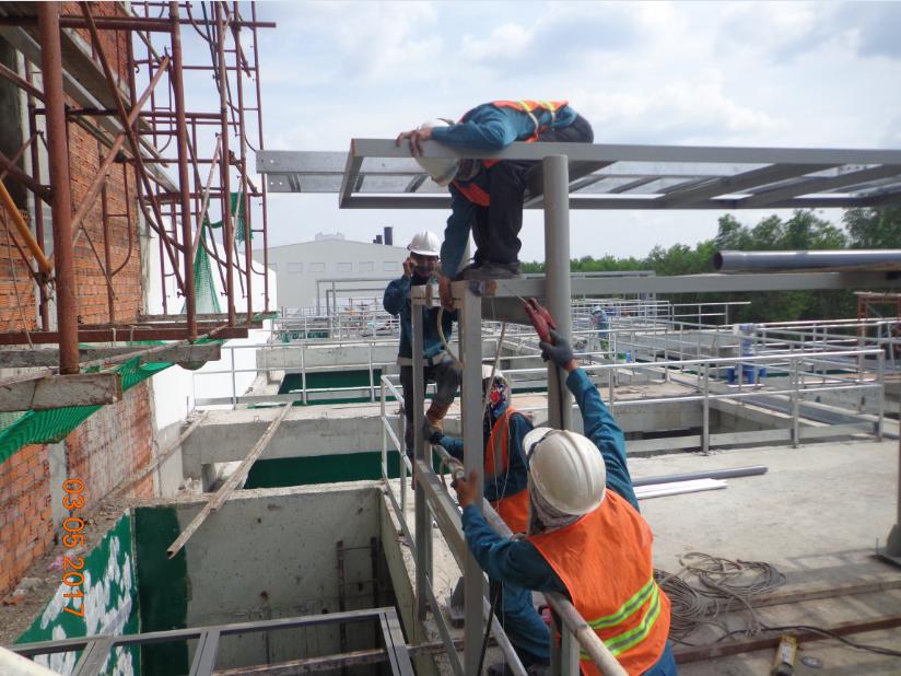 Thi công hệ thống xử lý nước thải - cty Bàu Bàng