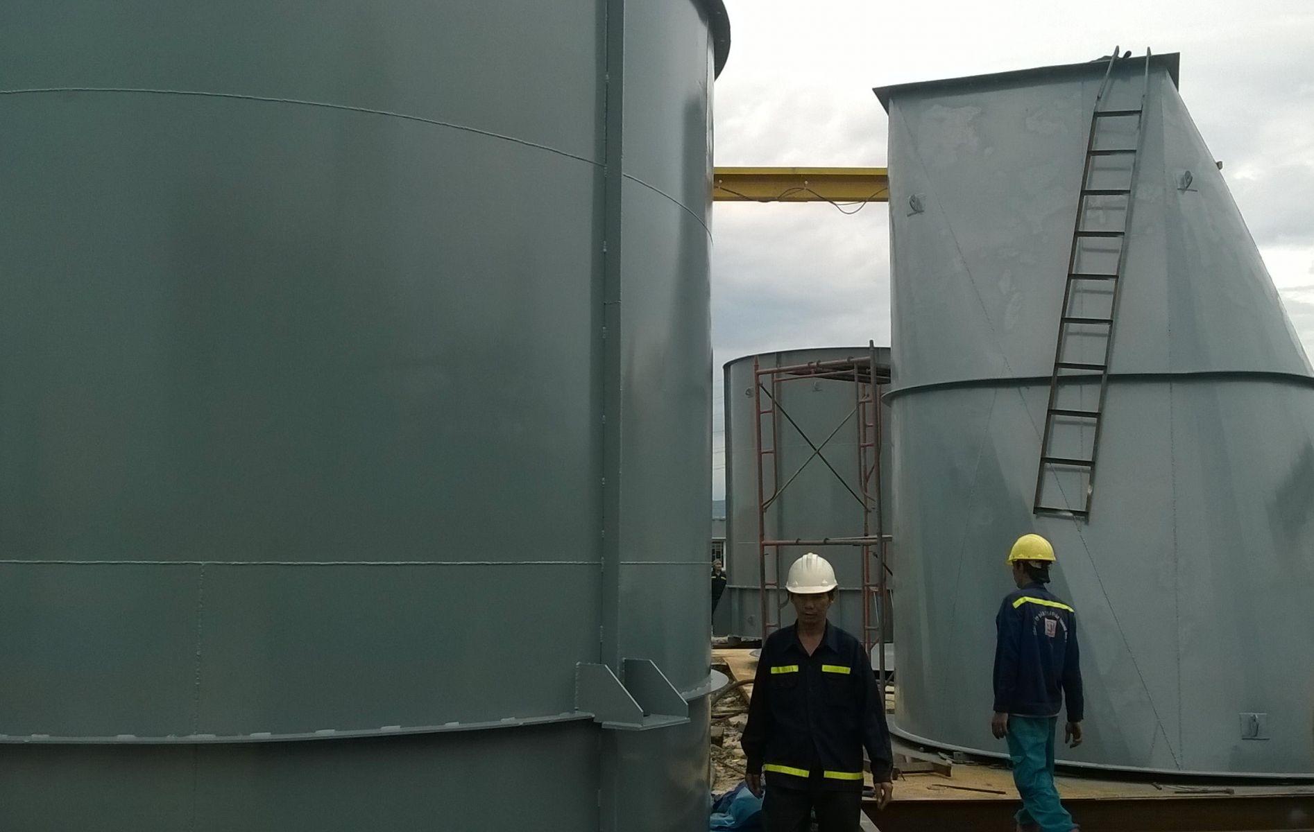 Lắp đặt Silo, gia công thiết bị - Nhà máy men bia cty Inter Malt
