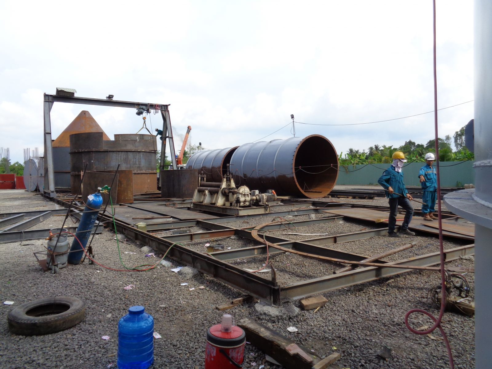 Gia công, lắp đặt silo ximăng - cty Xi măng Tây Đô